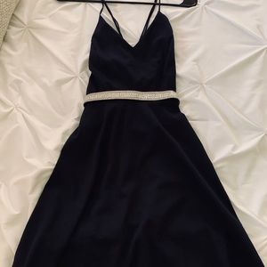 Dark Blue Short Dress